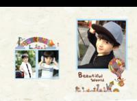 美丽世界  儿童 萌娃 男女通用 照片可替换-8x12对裱特种纸30p套装
