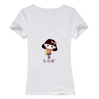 亲子么么哒t恤女可爱女款纯棉白色T恤