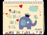 可爱宝宝 暖暖的爱-8寸双面印刷台历