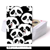 可爱呆萌熊猫大头像-双面定制扑克牌