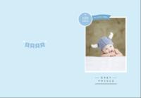 宝宝百岁留念(蓝色男宝款)-B5定制胶装道林笔记本