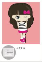 卡通    可爱女孩小希LOMO卡  可添加照片 填写心情文字定制lomo卡套装(25张)