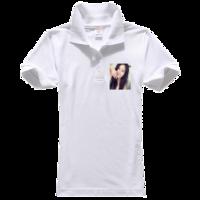 技术测试-T恤-女款纯色POLO衫