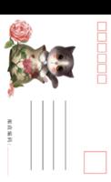 萌宠可爱猫咪2-手绘风格-全景明信片(竖款)套装