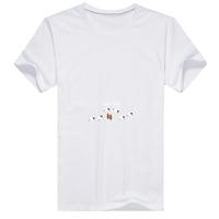 绵绵羊图案男款精梳棉圆领T恤