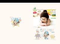 米奇和米妮的快乐童年时光-A4硬壳照片书34p