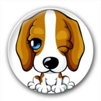 萌狗狗徽章-7.5个性徽章