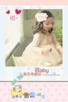 欢乐宝贝 带个我们幸福 温馨 亲子萌宝 生活写真集 图文可替换-8x12双面水晶印刷照片书20p