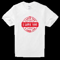 你我相爱相守一生—个性青春校园班服团体—全家福礼物—舒适白色T恤