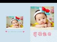 七彩可爱宝贝(亲子写真、宝宝艺术照片、生活照片都可以用)-硬壳精装照片书22p