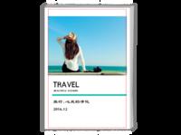 经典 我的旅行日记(青春、出行、毕业旅游、摄影,图文可换)-A4时尚杂志册(24p)