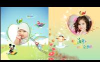 快乐童年 放飞梦想 快乐童年成长纪念册-8x8对裱特种纸22p