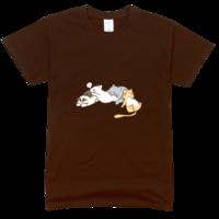 熟睡的猫舒适彩色T恤