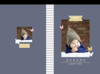 宝贝成长快乐-A4硬壳照片书34p