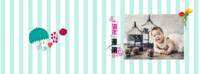 条纹清新浪漫温馨-8x12横款硬壳对裱照片书24p
