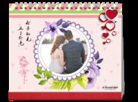 TL521台历情侣婚庆婚纱 恋爱写真 爱情纪念记录-10寸双面印刷台历