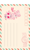 MX3青春卡通 可爱儿童成长 亲子宝贝纪念-全景明信片(竖款)套装
