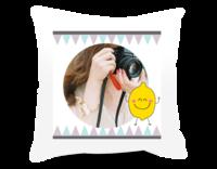 快乐笑哈哈(封面照片可更换)-短皮绒面双面抱枕