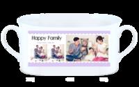 happy family 幸福家庭-骨瓷白杯