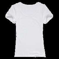 自由DIY-女款纯棉白色T恤