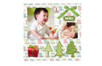 欢乐假日可爱卡通-8x8印刷单面水晶照片书