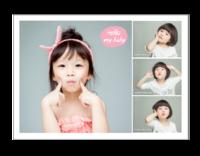 Hello my baby 亲子系列 萌宝纪念620-14寸木版画横款