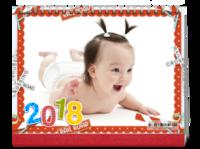 2018亲子童年全家福旅行(封面照片可换)-8寸单面印刷跨年台历