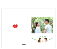 【她和他】我们的故事 送男友送女友 周年纪念-15寸硬壳蝴蝶装照片书32p