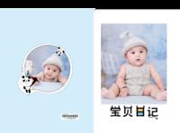 宝贝日记(照片可换YK)-8x12对裱特种纸30p套装