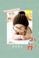 卡通小插画宝贝成长纪念册-A5竖款胶装杂志册42p