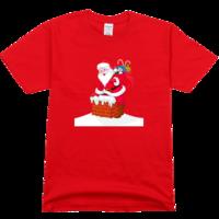 烟囱圣诞舒适彩色T恤