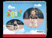 宝贝 儿童 成长生日礼物 家庭全家福 幼儿园卡通精致-10寸横款单月双面台历(7页)