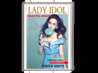【潮流范儿】美人纪时尚简约美个人写真相册-封面照片可替换-A4时尚杂志册(24p)