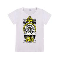 amor母版-童装纯棉白色T恤