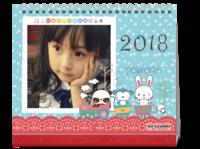 萌萌可爱亲子卡通台历-10寸单面跨年台历