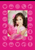 芭比公主(梦想女孩)少女、亲子、闺蜜-B2单月竖款挂历