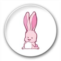 长耳朵兔子-7.5个性徽章