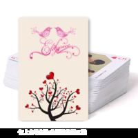 PK49情侣 婚庆 恋爱写真 爱情纪念记录-双面定制扑克牌