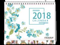 2018小清新台历-8寸双面印刷台历