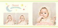 可爱宝贝快乐开心每一天 萌萌哒小宝宝成长记录-8x8PU照片书NewLife
