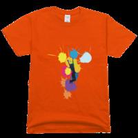 色彩青春高档彩色T恤