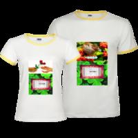一抹香执手(朋友Party聚会,可修改)-撞色情侣装纯棉T恤