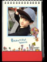 2017 美丽世界 儿童 卡通 通用 照片可替换-8寸竖款双面