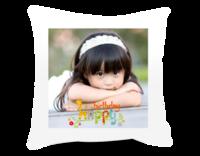生日快乐(图片可换、装饰可移动)-短皮绒面双面抱枕