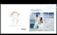 有你的风景更美丽 纪念册 结婚纪念册 定婚纪念册 恋爱纪念册 影楼风格(字图可替换)-8x8对裱特种纸30p套装