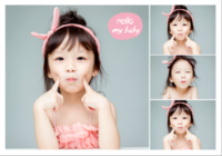 Hello my baby 亲子儿童宝贝系列 萌宝纪念622-B2单面横款印刷海报