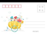 儿童可爱潮流插画彩色童年的美好记忆3-长方留白明信片(横款)套装