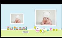 宝宝的幸福生活 可爱宝贝成长留念 快乐的日子 欢乐童年-8X8锁线硬壳精装照片书40p