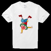 倒立的小丑高档白色T恤