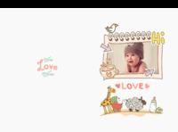 可爱宝宝的幸福童年(封面样图可更换)-A4硬壳照片书34p